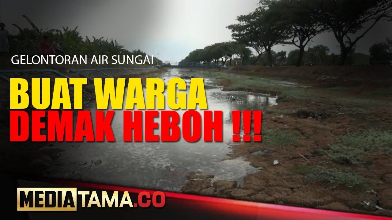 VIDEO : KEHEBOHAN WARGA MELIHAT GELONTORAN AIR SUNGAI