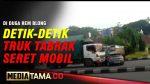 VIDEO : DETIK DETIK TRUK KONTAINER SERET MINUBUS