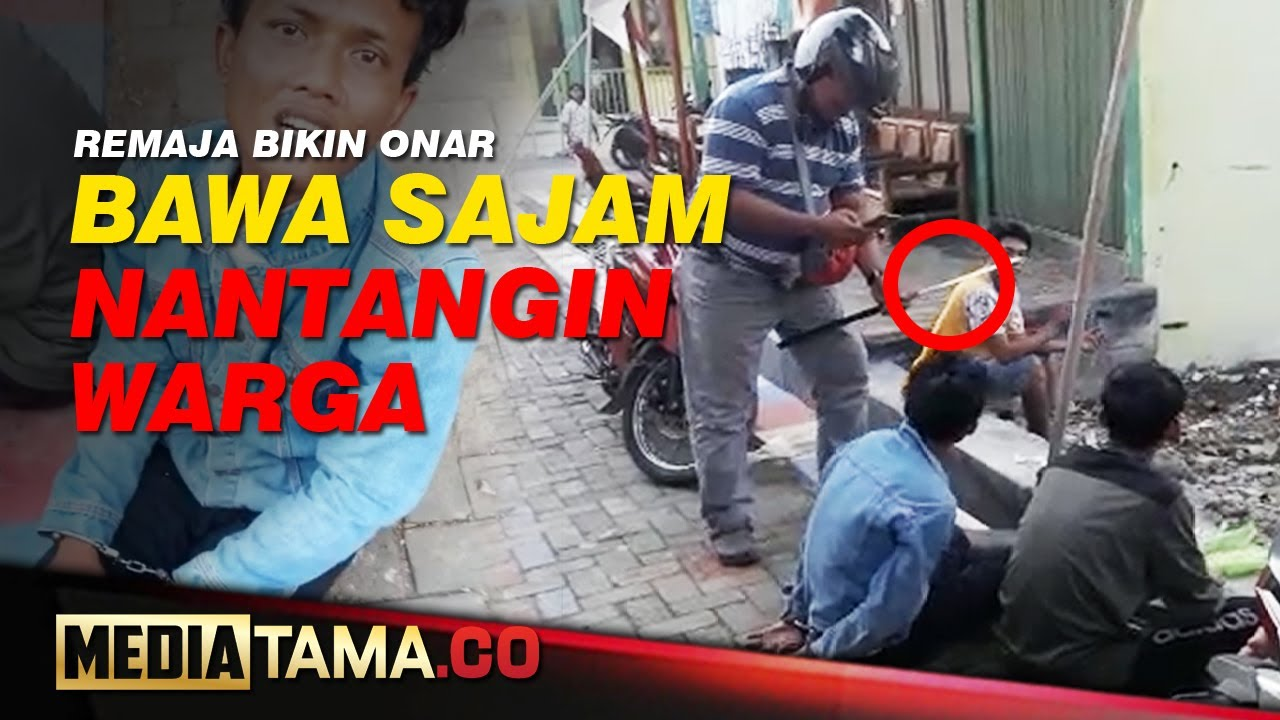 VIDEO : REMAJA BAWA SAJAM BIKIN ONAR DI KAMPUNG