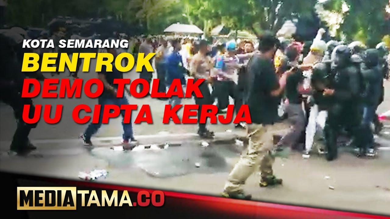 VIDEO : BENTROK DEMO TOLAK RUU DI SEMARANG