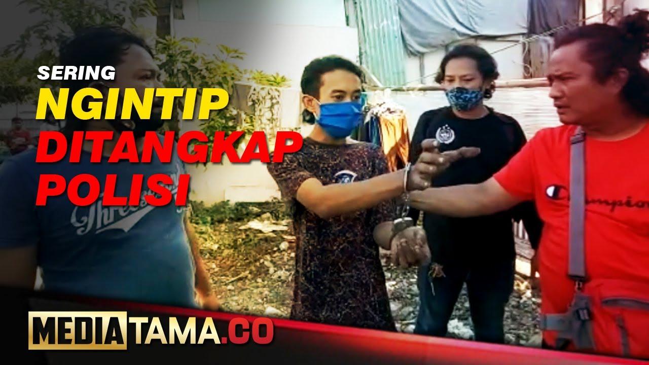VIDEO : INTIP TETANGGA MANDI, SEORANG PEMUDA DIRINGKUS POLISI