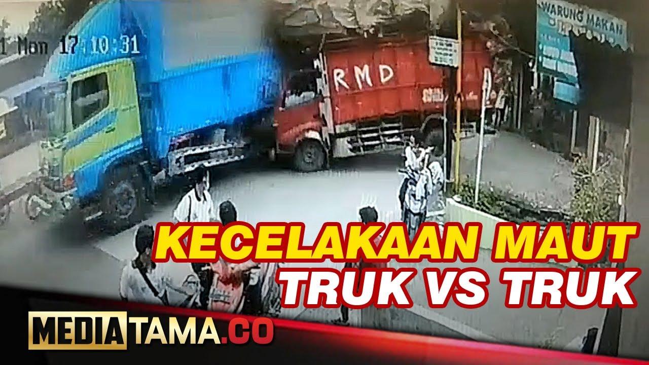 VIDEO : DETIK DETIK KECELAKAAN TRUK BLONG TEREKAM CCTV