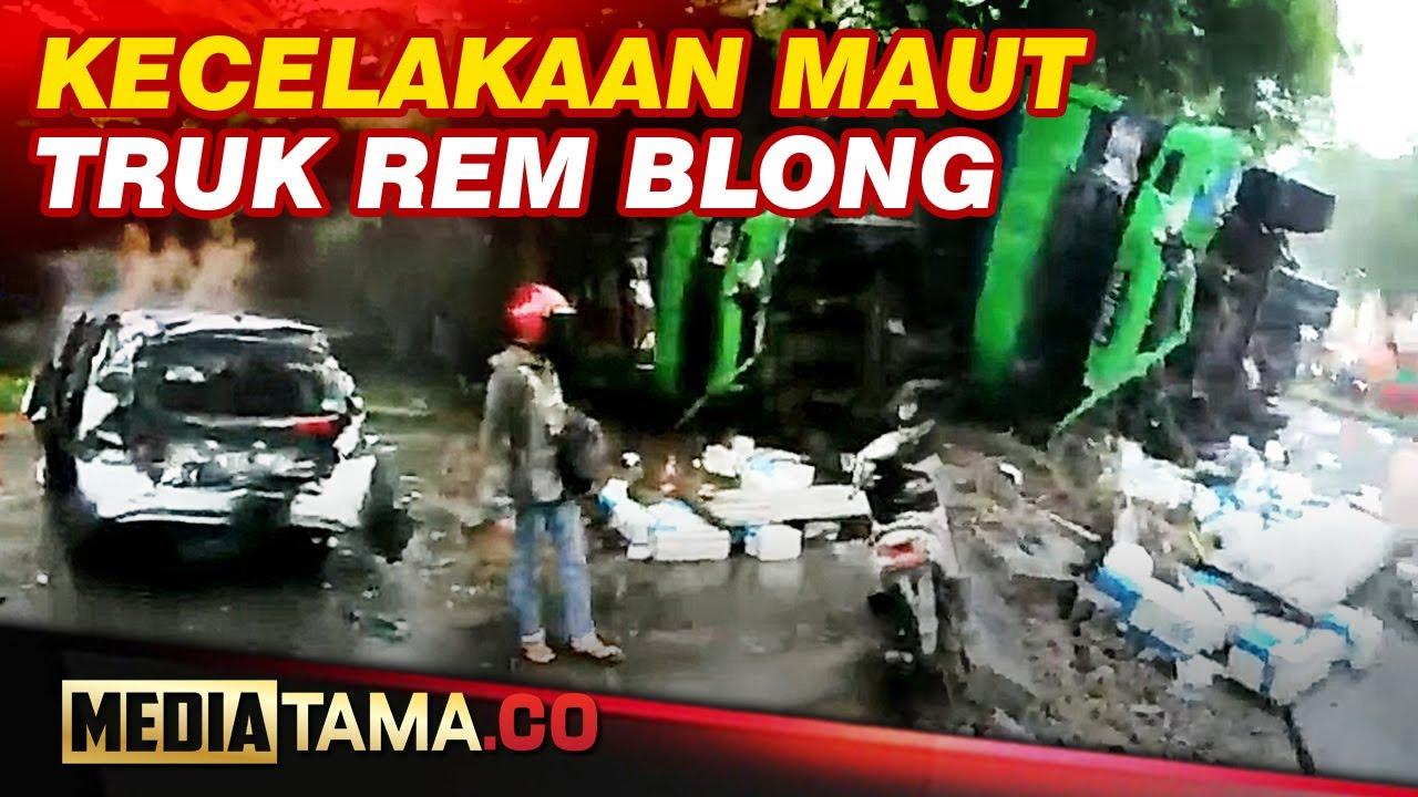 VIDEO : Video Amatir Kecelakaan Beruntun di Turunan Silayur Ngaliyan Semarang